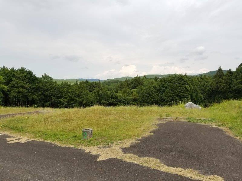 秋吉台家族旅行村のオートサイト22番