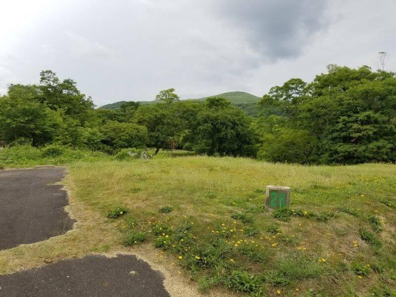 秋吉台家族旅行村のオートサイト26番
