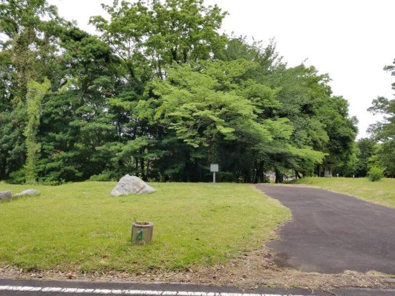 秋吉台家族旅行村のオートサイト4番