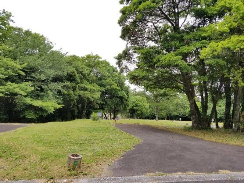 秋吉台家族旅行村のオートサイト5番