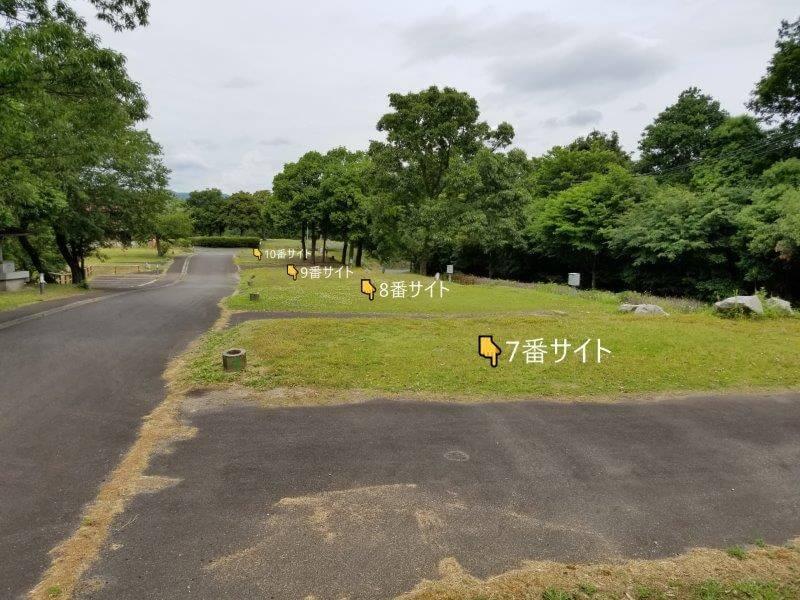 秋吉台家族旅行村のオートサイト7番~10番