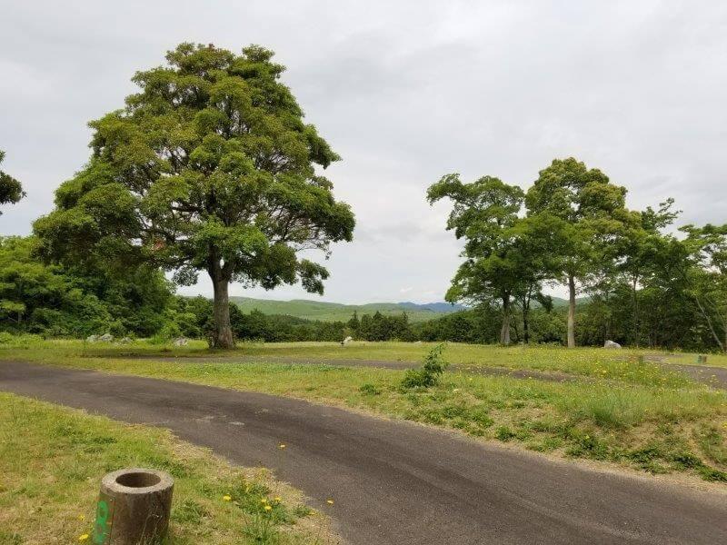 秋吉台家族旅行村のオートサイト