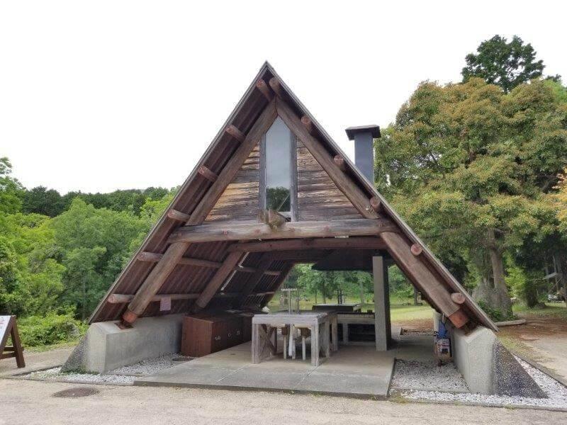 秋吉台家族旅行村一般キャンプ場の炊事棟