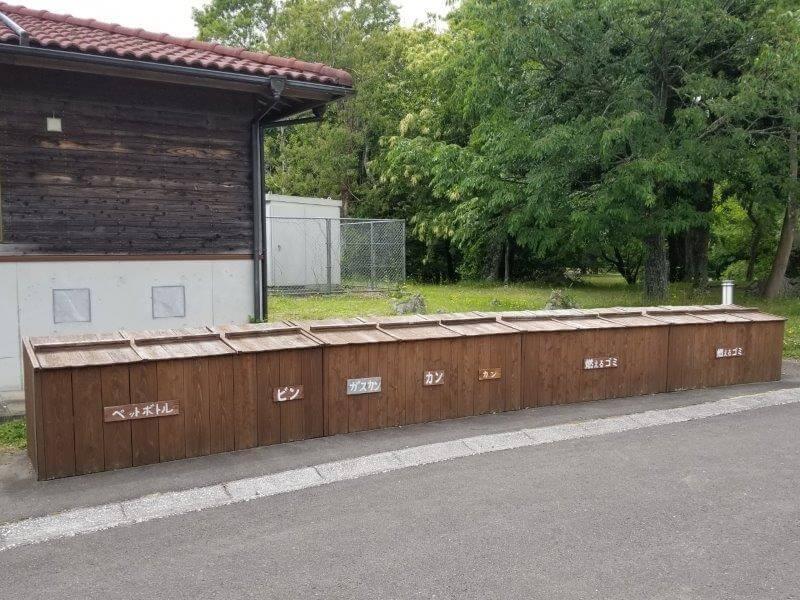 秋吉台家族旅行村のゴミ捨て場