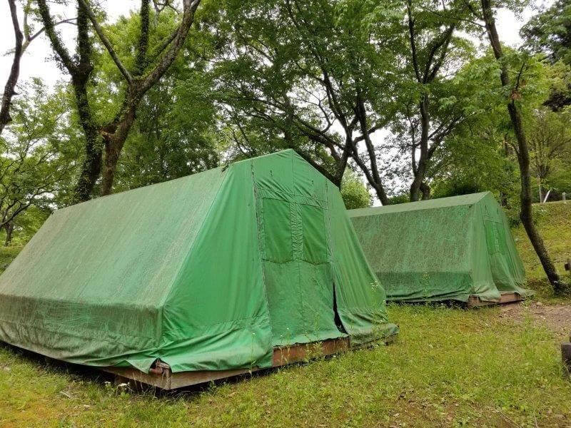 秋吉台家族旅行村の常設テント