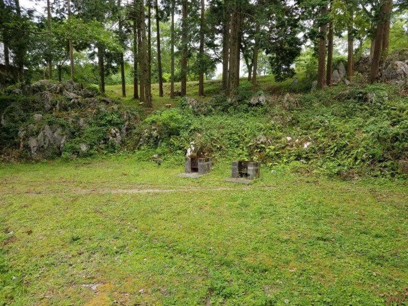 秋吉台家族旅行村の区画一般サイト10番