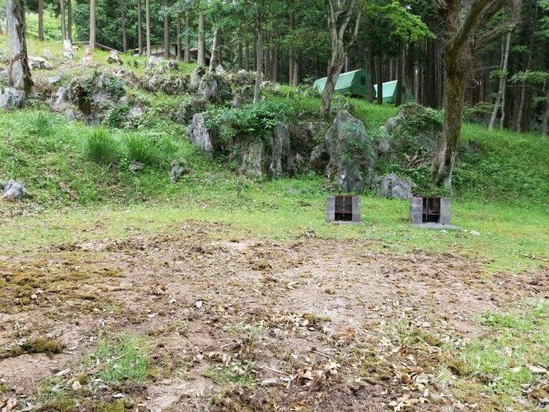 秋吉台家族旅行村の区画一般サイト6番