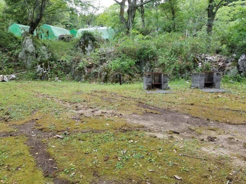 秋吉台家族旅行村の区画一般サイト8番