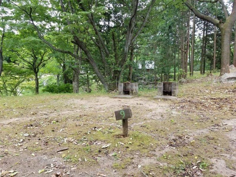 秋吉台家族旅行村の区画一般サイト9番
