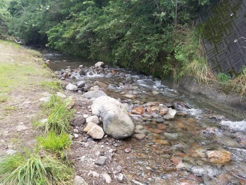 ボイボイキャンプ場の川遊び場