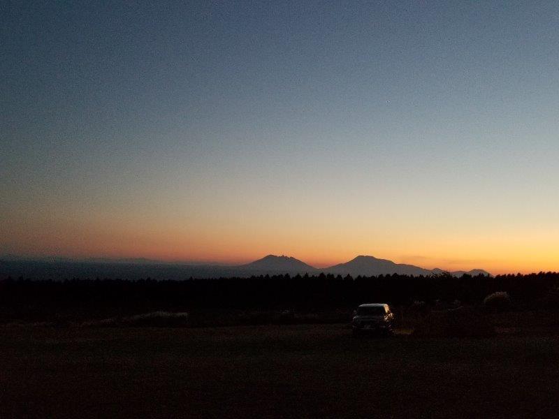 ボイボイキャンプ場の夕焼け