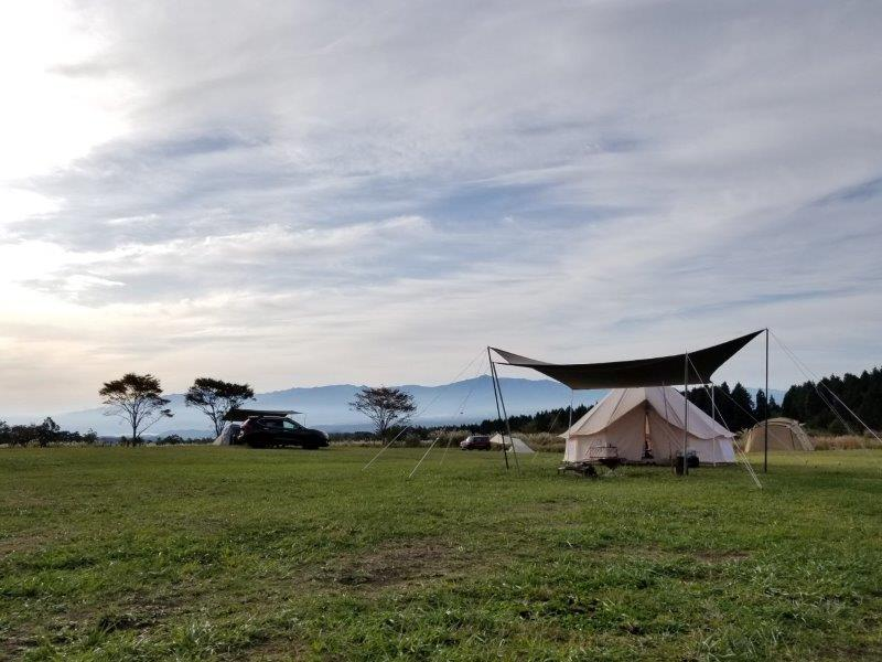 ボイボイキャンプ場の朝