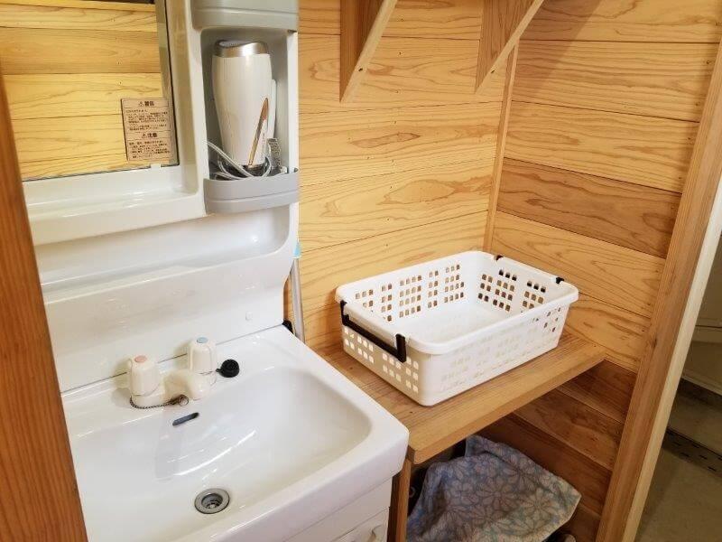 ボイボイキャンプ場の洗面所