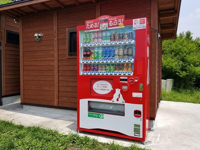 ボイボイキャンプ場にある自動販売機