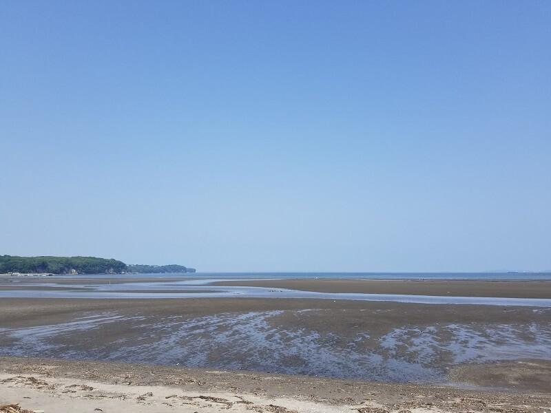 糸ヶ浜の干潮時