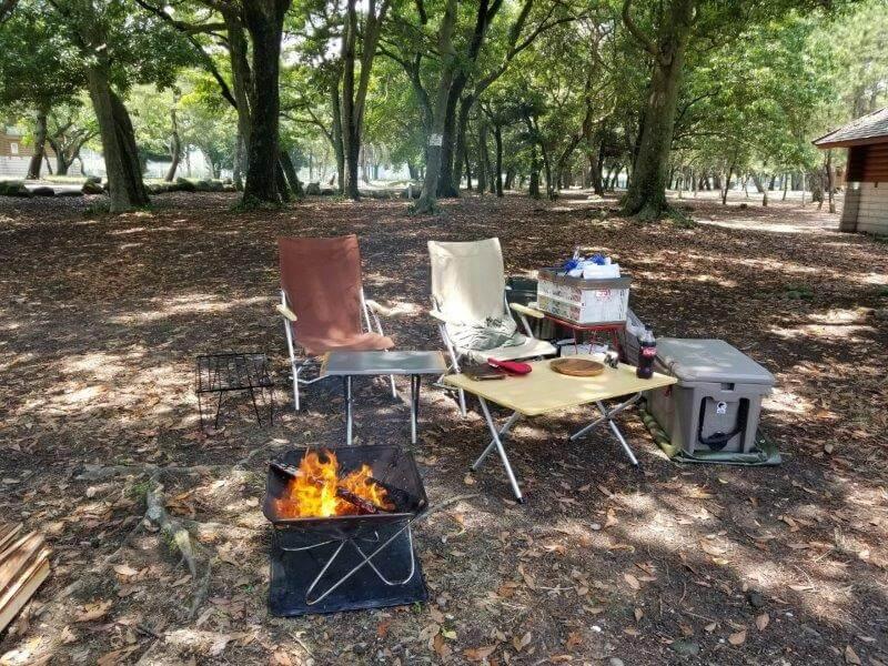糸ヶ浜海浜公園でデイキャンプしました