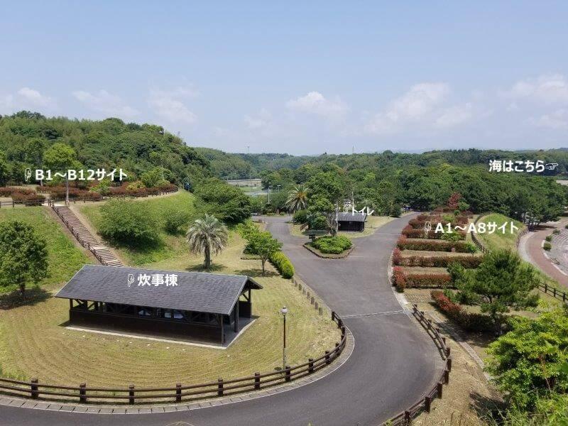 糸ヶ浜海浜公園のオートキャンプ場の説明