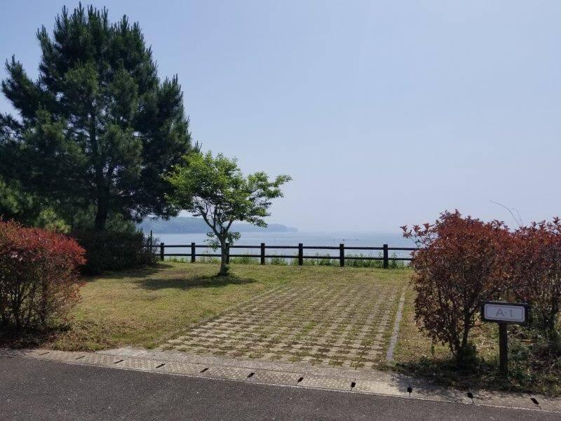 糸ヶ浜海浜公園オートサイトA1