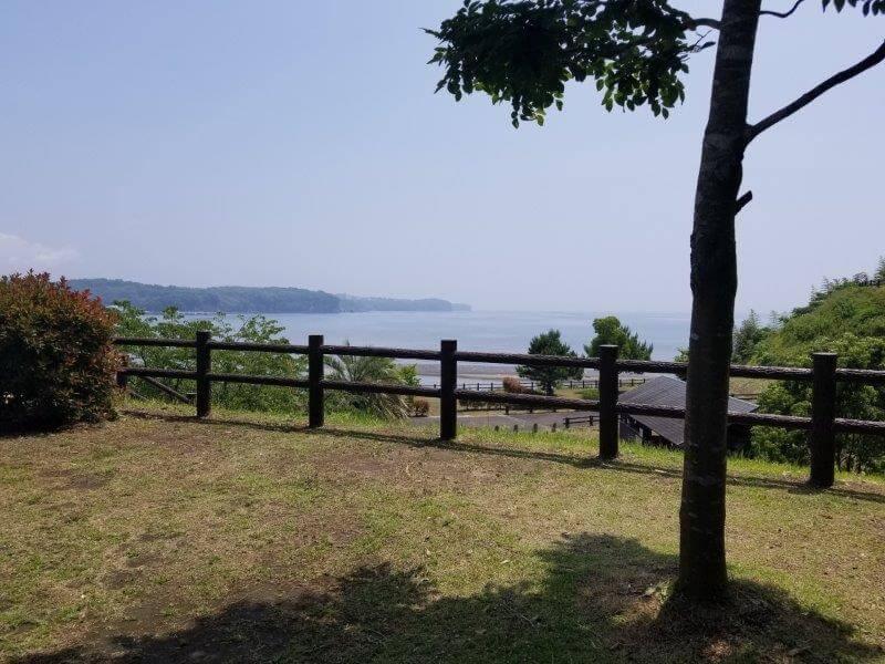糸ヶ浜海浜公園オートサイトB1からの景色