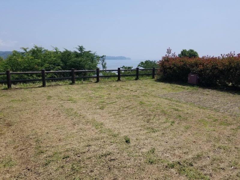 糸ヶ浜海浜公園オートサイトB5からの景色