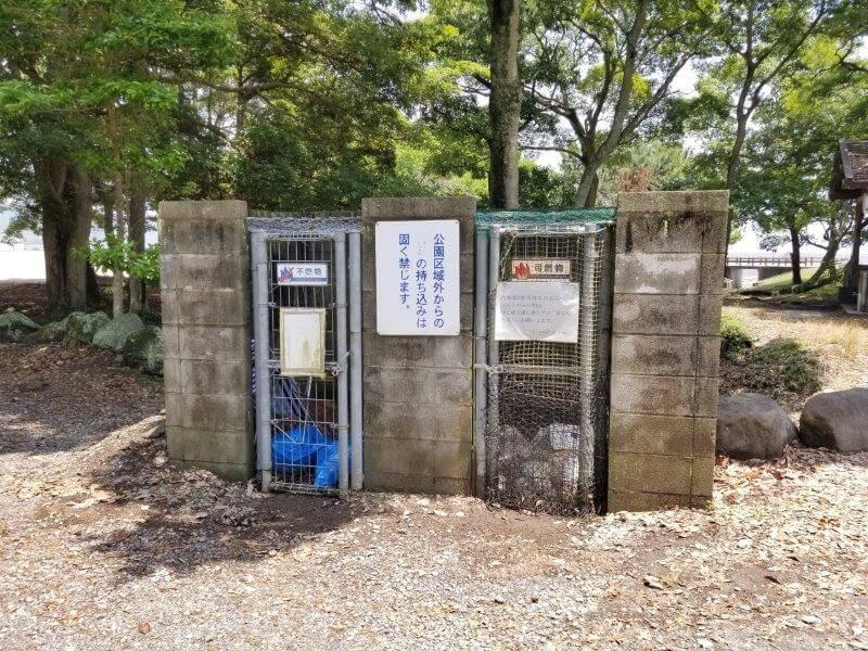 糸ヶ浜海浜公園のゴミ捨て場