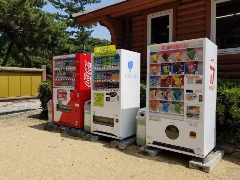 糸ヶ浜海浜公園にある自販機
