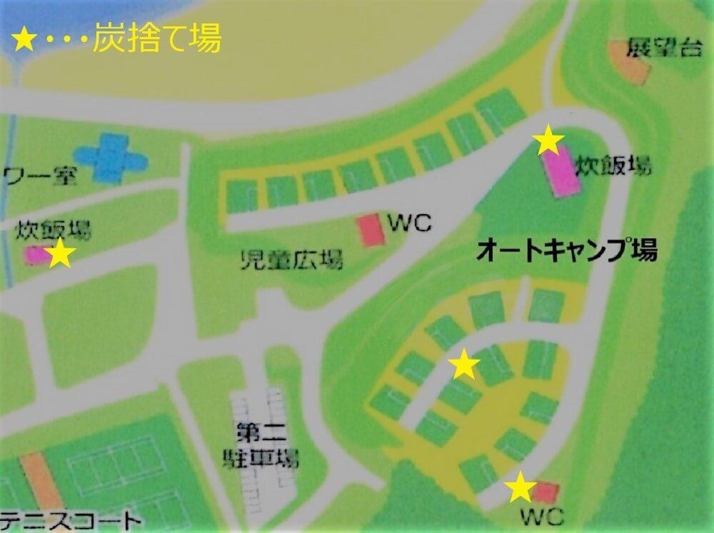 糸ヶ浜海浜公園の炭捨て場マップ