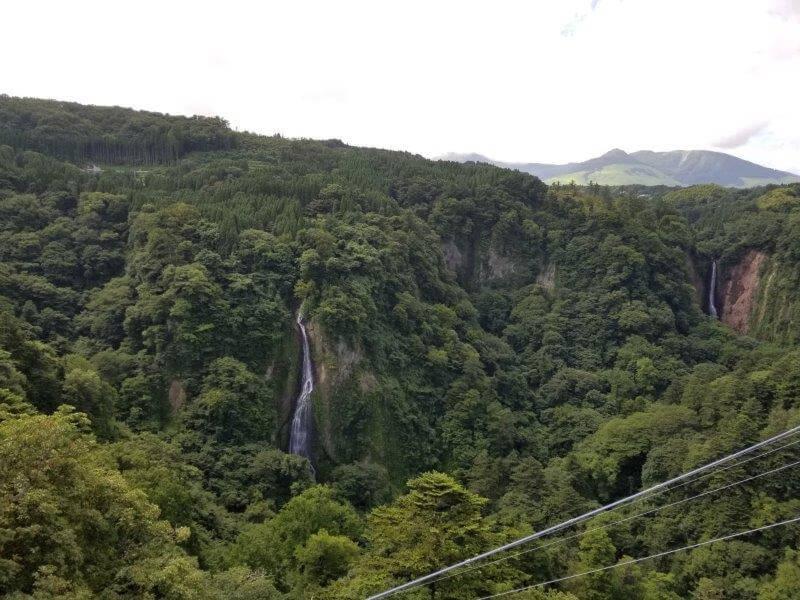 九重夢大吊橋からの眺め