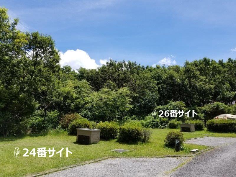 くじゅうやまなみキャンプ村オートサイト24番サイト