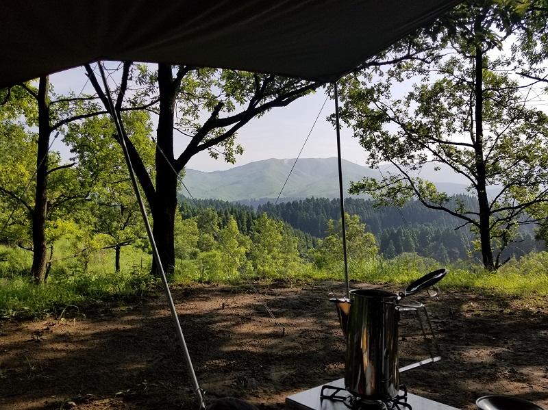 蔵迫温泉さくらキャンプ場の朝