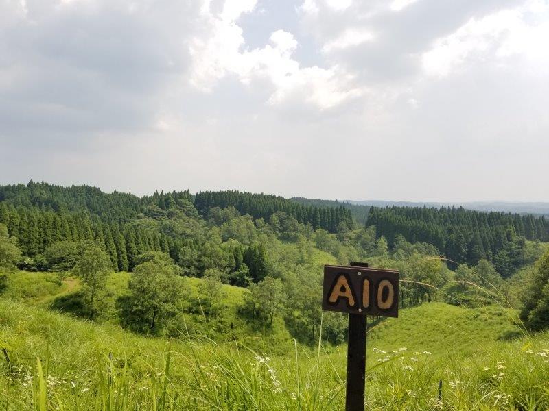 蔵迫温泉さくらキャンプ場阿蘇側のA10サイトからの景色