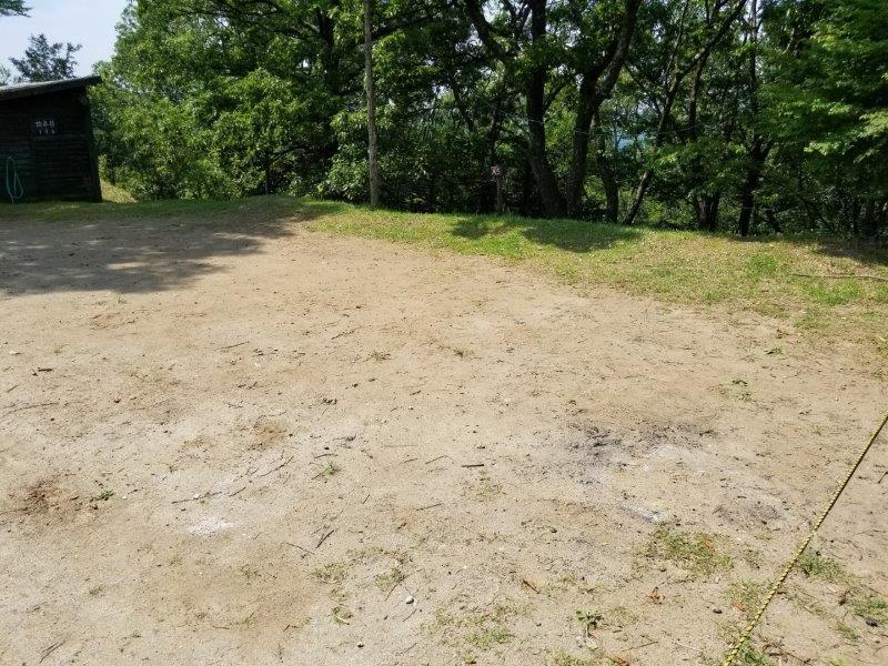 蔵迫温泉さくらキャンプ場阿蘇側のA5サイト