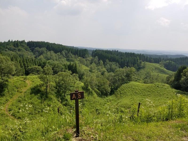 蔵迫温泉さくらキャンプ場阿蘇側のA8サイトからの景色