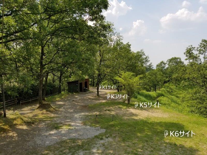 蔵迫温泉さくらキャンプ場くじゅう側K1・K3・K5サイト