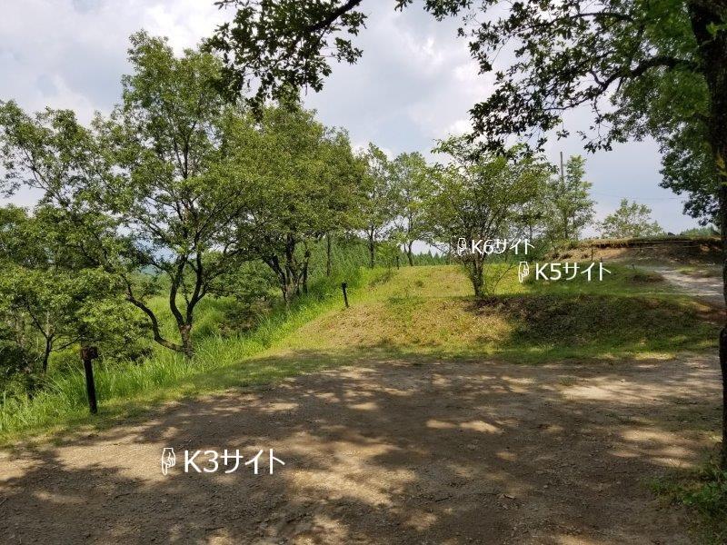 蔵迫温泉さくらキャンプ場くじゅう側K3・K5・K6サイト