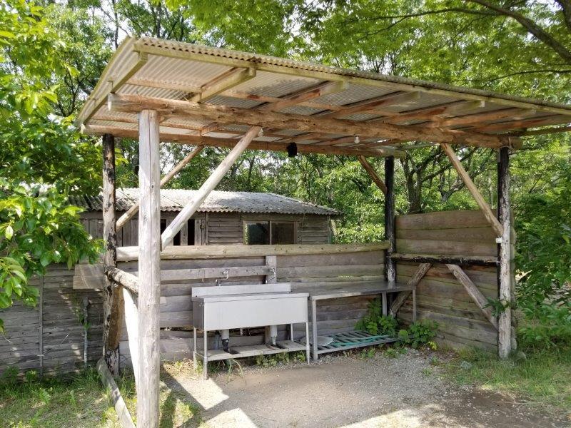 蔵迫温泉さくら 阿蘇側サイトの炊事場
