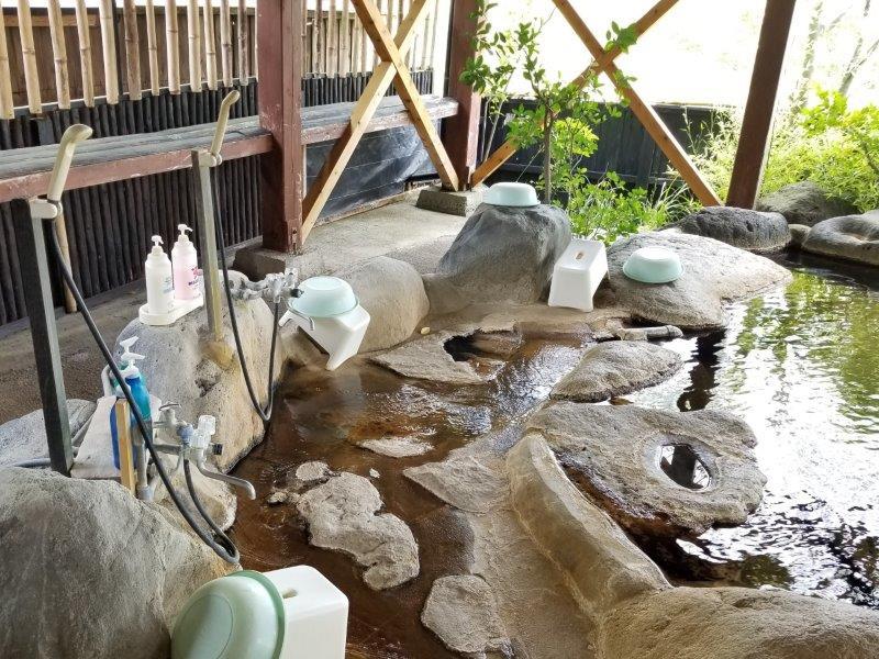 蔵迫温泉さくら 露天風呂の洗い場