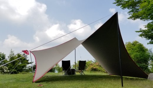 テンマクデザイン 焚火タープコットンヘキサは濃い影をつくる