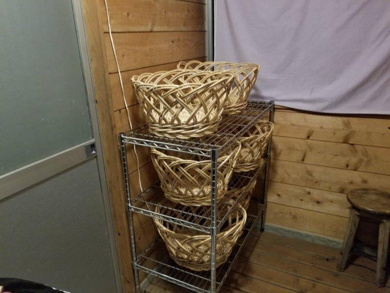バルンバルンの森 家族風呂の脱衣所