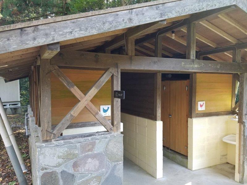 バルンバルンの森 タイニーハウス近くのトイレ