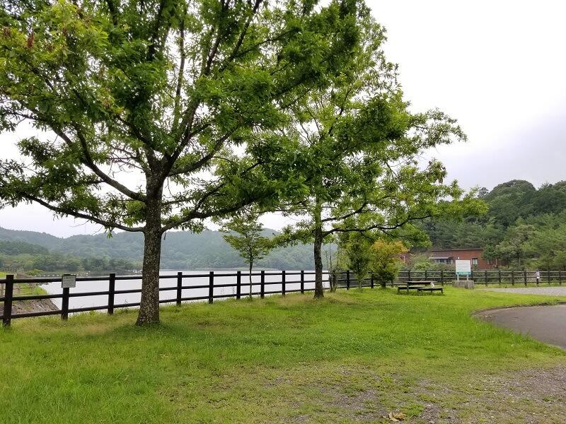 伊佐ノ浦公園キャンプサイトのトイレ前エリア