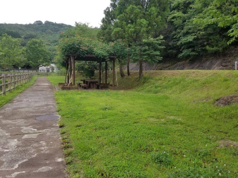 伊佐ノ浦公園キャンプサイト藤棚エリア