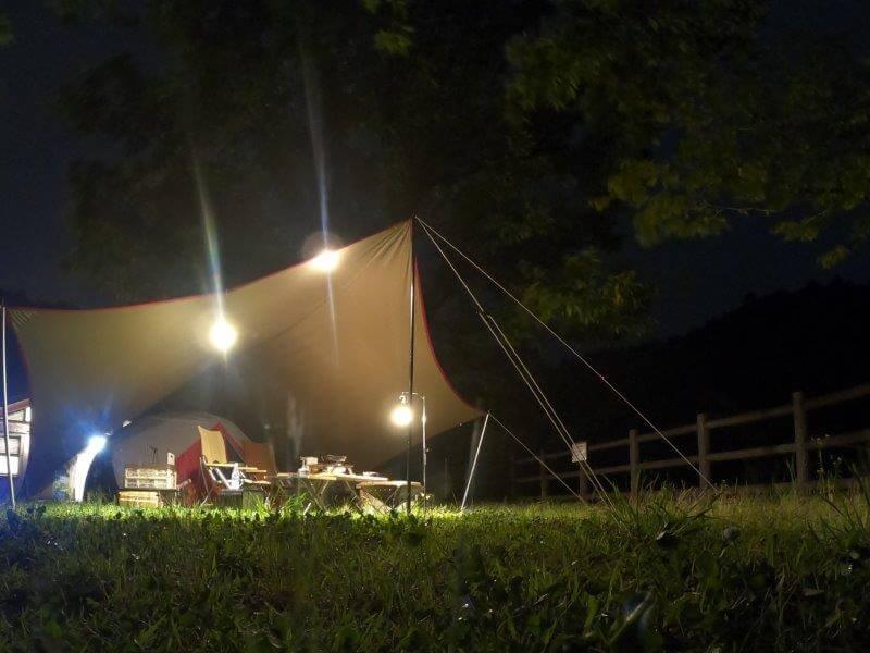 伊佐ノ浦公園の夜