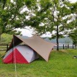 伊佐ノ浦公園で雨キャンプ