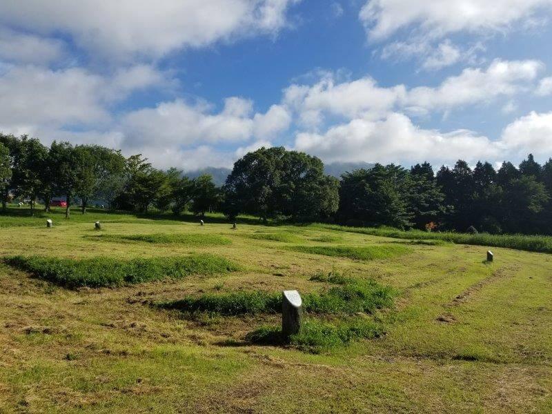 久住高原オートビレッジの区画サイト(南側)