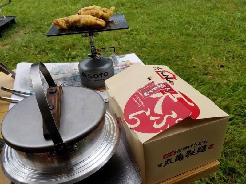 久住高原オートビレッジ:キャンプ日記とり天を焼く