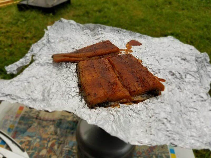 久住高原オートビレッジ:キャンプ日記 うなぎを焼く