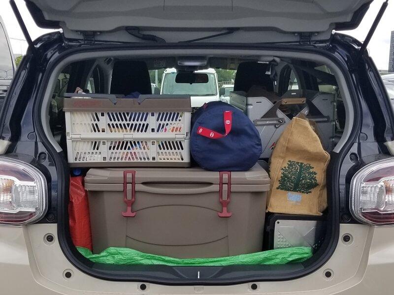 久住高原オートビレッジ:キャンプ日記 ギアを車に積載