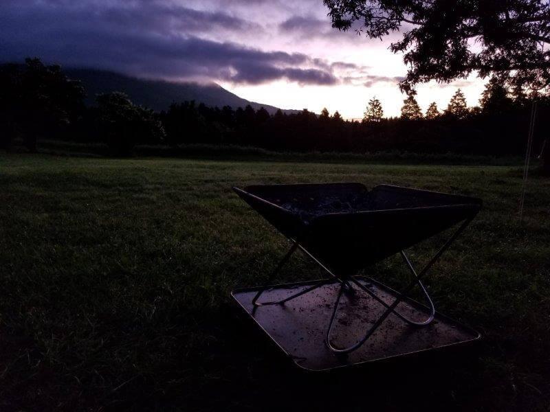 久住高原オートビレッジ:キャンプ日記 朝焼け