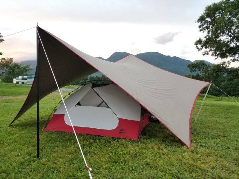 久住高原オートビレッジ:キャンプ日記 フリーサイトでテントを設営